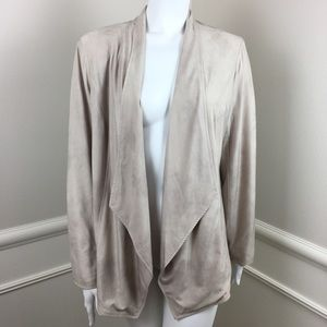 JM Collection Stretch Open-Front Cardigan Medium
